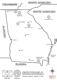 georgia map coloring page free printable coloring pages