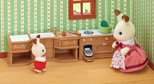 buy sylvanian families kitchen stove sink and counter set