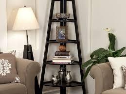 Small Ladder Bookcase by Furniture 36 Inspiration Storage Wonderful Espresso Corner