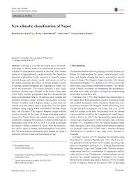 Show Me A Map Of Nepal by New Climatic Classification Of Nepal Pdf Download Available