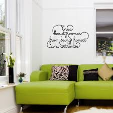 Beautiful Wall Stickers For Room Interior Design True Beauty Wall Quote Decal Wallums Wall Decor