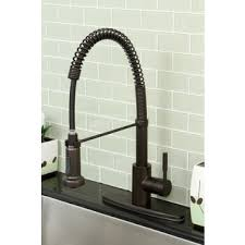 Industrial Faucets Kitchen Modern Rubbed Bronze Spiral Pull Kitchen Faucet Free