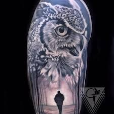 owl by chris peters tattoonow