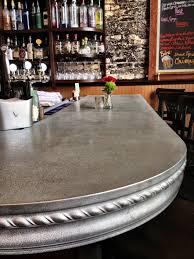 Zinc Top Bar Table Our Curved Pewter Bar Top Design For Le Rêve Patisserie Cafe