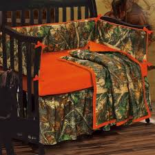 Camo Crib Bedding Set Camo Crib Bedding Blaze Orange Cmouflage Bedding Cabin Place