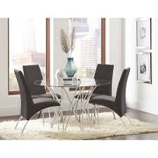 coaster cabianca contemporary dining set with glass top table coaster cabianca table and chair set item number 106921 4x120802