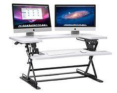 amazon com varidesk pro 36 height adjustable black desktop