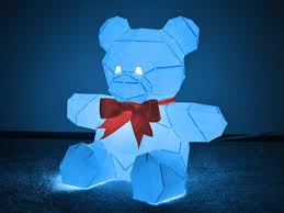 create a teddy bear that lights up just grab paper and glue