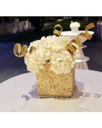 baby shower flower centerpieces deals on 6 x 6 square glitter vase wedding centerpiece baby