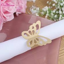 aliexpress com buy 50pcs lot butterfly paper napkin rings for