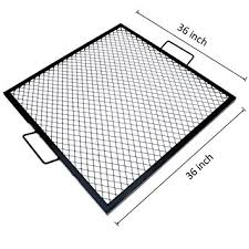 Firepit Grate Onlyfire X Marks Square Pit Cooking Grate 36