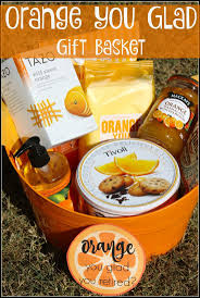 orange you glad gift basket thethankfulchallenge themed gift