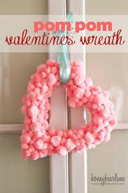 valentines wreaths easy s pom pom wreath