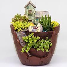amazon com fairy garden planter indoor and outdoor pot makes