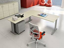 Compact Office Desks L Shaped Melamine Faced Chipboard Workstation Desk Compact L