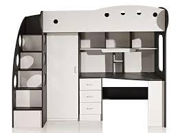 lit mezzanine avec bureau et rangement lit mezzanine 90x190 cm coloris blanc gris vente de lit