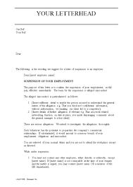 suspension letter format