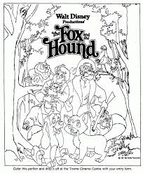 fox and the hound coloring pages coloring home