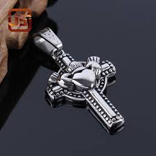 mens cross necklace pendant images 316l stainless steel cross necklace famous brand silver chain men jpg