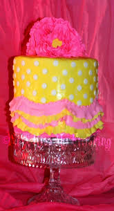 pink and yellow birthday cake made for my mommy n law u0027s 81 u2026 flickr