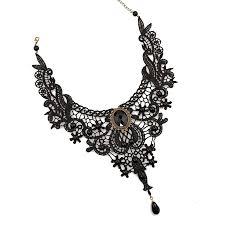 lace necklace images Black white lace necklace easycoshop jpg