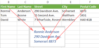 Excel Mail Merge Template How To Print Address Labels From Excel