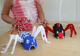 egg carton halloween crafts egg carton spider puppets watch out they u0027re scary egg