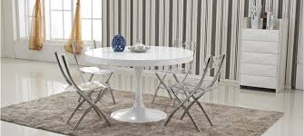 Table Ronde by Table Ronde Blanche Extensible Table Sejour Design Maisonjoffrois