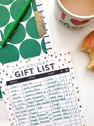 gift list gift list free printables me my big ideas
