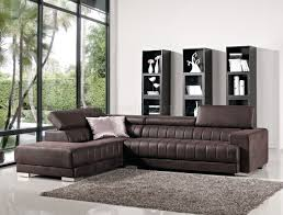 Modern Fabric Sectional Sofa Brown Fabric Modern Sectional Sofa W Adjustable Headrest