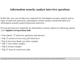 information security analyst resume information security analyst questions 1 638 jpg cb 1411084076