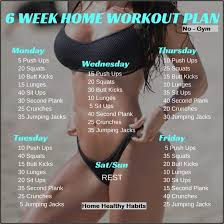 at home workout plans for women 6 week no gym home workout plan home healthy habits