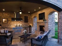 Outdoor Kitchen Designer by Kitchen 41 Covered Outdoor Kitchen Design With Brick Wall And