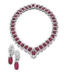 silver necklace ruby images Exclusive 16 inches cabochon ruby necklace made with silver gleam jpg