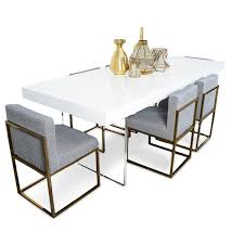 lucite plinth leg dining table in white modshop lucite plinth leg dining table in white