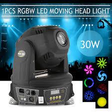 Cheap Moving Head Lights 1pcs 30w Led Mini Moving Head Spot Rgbw Stage Lighting Gobos Club