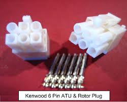 kenwood 6way at plug atu connector fits automatic antenna tuner