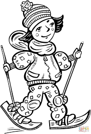 cross country skiing coloring page free printable coloring