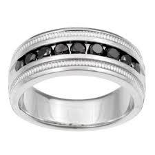 black diamond band sterling silver men s 1ct tdw black diamond band free shipping