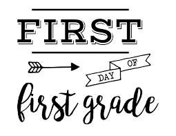 first day of sign free printable paper trail design