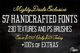 last chance 57 handcrafted fonts 230 textures u0026 100s of design
