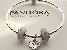 pandora silver bangle charm bracelet images New authentic pandora sterling silver bangle bracelet with charms jpg