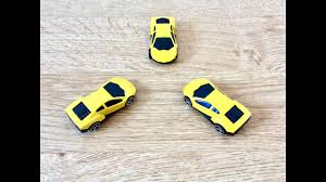 kids fun learning chad valley three yellow toy racing cars cars