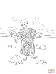 joseph coat of many colors coloring page free printable coloring