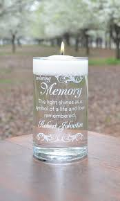 personalized candle memorial candle here comes the white personalized candle