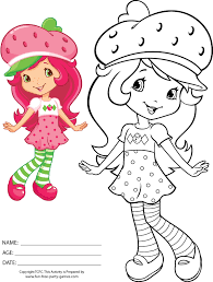 coloring pages strawberry shortcake coloring pages cute