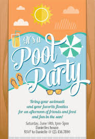 it u0027s a pool party printable summer party invitation template
