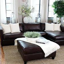 Living Room Ideas With Leather Sofa Brown Leather Decor Juniorderby Me
