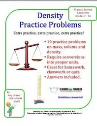 worksheet density drill and practice 2 product from