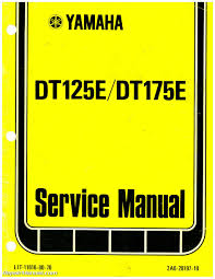 yamaha dt175 manual ebay